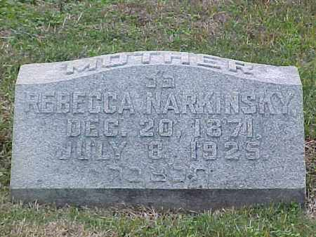 NARKINSKY, REBECCA - Pulaski County, Arkansas | REBECCA NARKINSKY - Arkansas Gravestone Photos