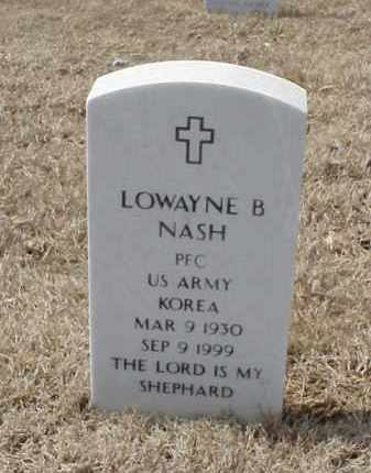 NASH  (VETERAN  KOR), LOWAYNE B - Pulaski County, Arkansas | LOWAYNE B NASH  (VETERAN  KOR) - Arkansas Gravestone Photos