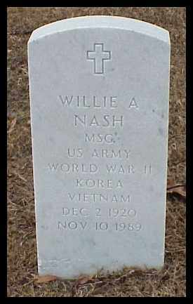 NASH (VETERAN 3 WARS), WILLIA A - Pulaski County, Arkansas | WILLIA A NASH (VETERAN 3 WARS) - Arkansas Gravestone Photos