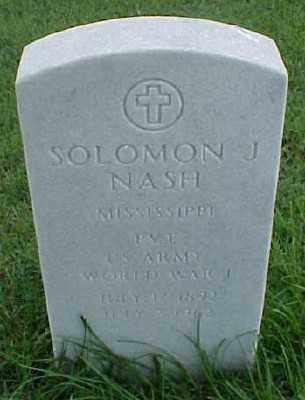 NASH (VETERAN WWI), SOLOMON J - Pulaski County, Arkansas   SOLOMON J NASH (VETERAN WWI) - Arkansas Gravestone Photos