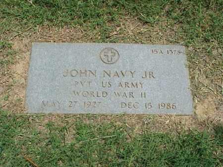 NAVY, JR (VETERAN WWII), JOHN - Pulaski County, Arkansas   JOHN NAVY, JR (VETERAN WWII) - Arkansas Gravestone Photos