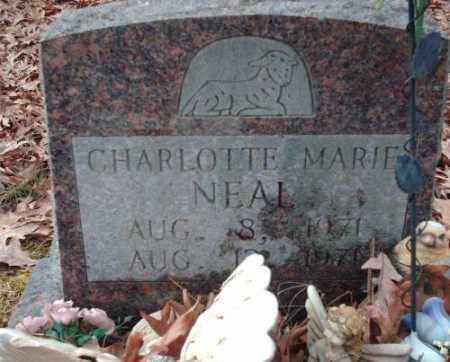 NEAL, CHARLOTTE MARIE - Pulaski County, Arkansas | CHARLOTTE MARIE NEAL - Arkansas Gravestone Photos