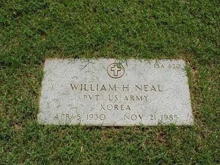 NEAL (VETERAN KOR), WILLIAM H - Pulaski County, Arkansas | WILLIAM H NEAL (VETERAN KOR) - Arkansas Gravestone Photos