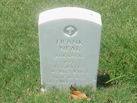 NEAL (VETERAN WWI), FRANK - Pulaski County, Arkansas | FRANK NEAL (VETERAN WWI) - Arkansas Gravestone Photos