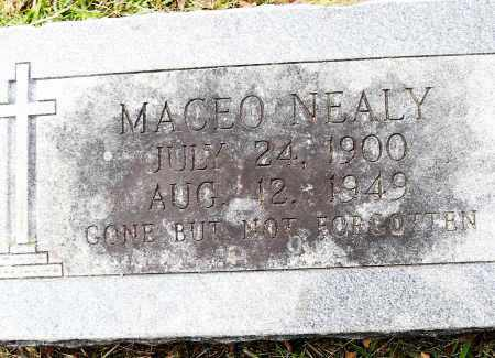 NEALY, MACEO - Pulaski County, Arkansas | MACEO NEALY - Arkansas Gravestone Photos