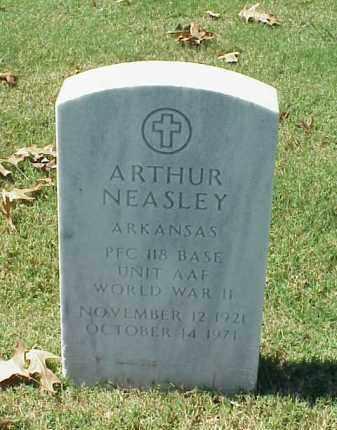 NEASLEY (VETERAN WWII), ARTHUR - Pulaski County, Arkansas | ARTHUR NEASLEY (VETERAN WWII) - Arkansas Gravestone Photos