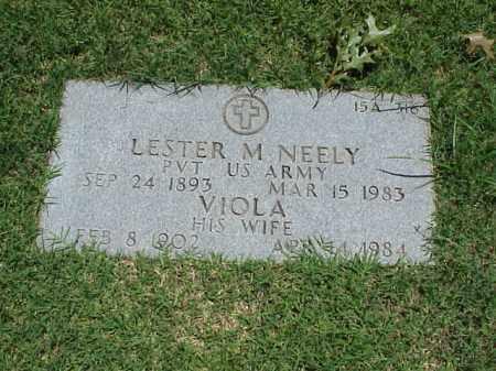 NEELY (VETERANWWI), LESTER M - Pulaski County, Arkansas | LESTER M NEELY (VETERANWWI) - Arkansas Gravestone Photos