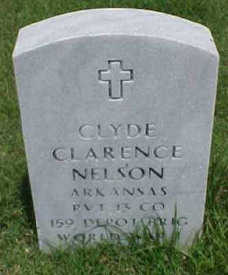 NELSON (VETERAN WWI), CLYDE CLARENCE - Pulaski County, Arkansas | CLYDE CLARENCE NELSON (VETERAN WWI) - Arkansas Gravestone Photos