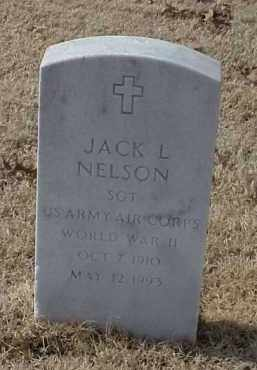 NELSON (VETERAN WWII), JACK L - Pulaski County, Arkansas | JACK L NELSON (VETERAN WWII) - Arkansas Gravestone Photos