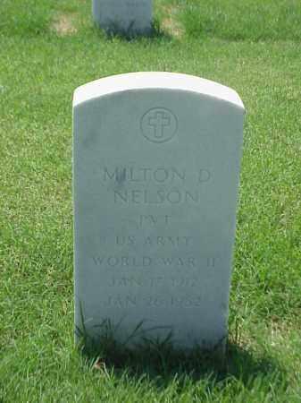 NELSON (VETERAN WWII), MILTON D - Pulaski County, Arkansas | MILTON D NELSON (VETERAN WWII) - Arkansas Gravestone Photos
