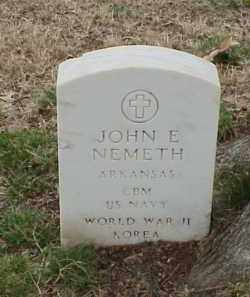 NEMETH  (VETERAN 2 WARS), JOHN E - Pulaski County, Arkansas | JOHN E NEMETH  (VETERAN 2 WARS) - Arkansas Gravestone Photos