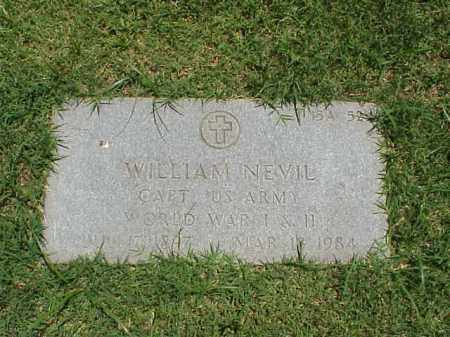 NEVIL (VETERAN 2 WARS), WILLIAM - Pulaski County, Arkansas | WILLIAM NEVIL (VETERAN 2 WARS) - Arkansas Gravestone Photos