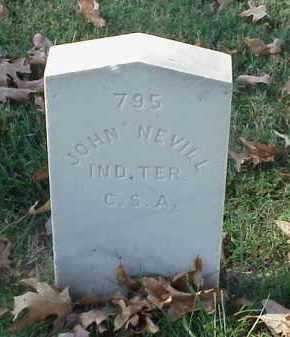NEVILL (VETERAN CSA), JOHN - Pulaski County, Arkansas | JOHN NEVILL (VETERAN CSA) - Arkansas Gravestone Photos