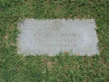 NEVILL (VETERAN WWII), CLYDE S - Pulaski County, Arkansas | CLYDE S NEVILL (VETERAN WWII) - Arkansas Gravestone Photos