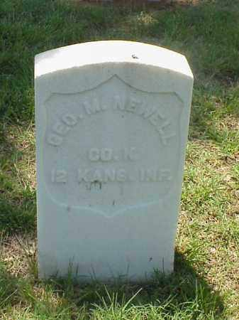 NEWELL (VETERAN UNION), GEORGE M - Pulaski County, Arkansas | GEORGE M NEWELL (VETERAN UNION) - Arkansas Gravestone Photos