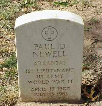 NEWELL (VETERAN WWII), PAUL D - Pulaski County, Arkansas | PAUL D NEWELL (VETERAN WWII) - Arkansas Gravestone Photos