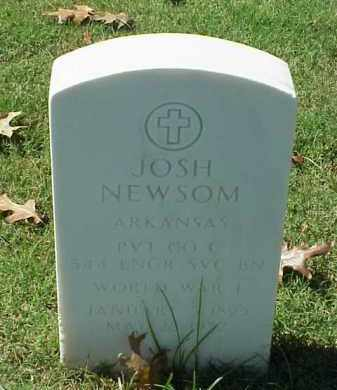 NEWSOM (VETERAN WWI), JOSH - Pulaski County, Arkansas | JOSH NEWSOM (VETERAN WWI) - Arkansas Gravestone Photos