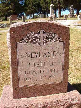 NEYLAND, IDELL J - Pulaski County, Arkansas | IDELL J NEYLAND - Arkansas Gravestone Photos