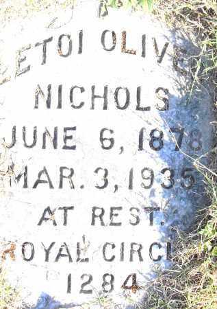 NICHOLS, LETOI OLIVER - Pulaski County, Arkansas | LETOI OLIVER NICHOLS - Arkansas Gravestone Photos