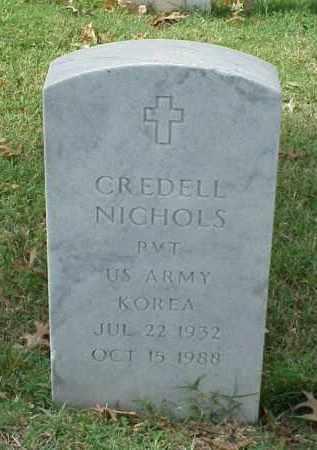 NICHOLS (VETERAN KOR), CREDELL - Pulaski County, Arkansas | CREDELL NICHOLS (VETERAN KOR) - Arkansas Gravestone Photos