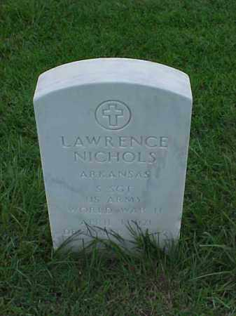 NICHOLS (VETERAN WWII), LAWRENCE - Pulaski County, Arkansas | LAWRENCE NICHOLS (VETERAN WWII) - Arkansas Gravestone Photos