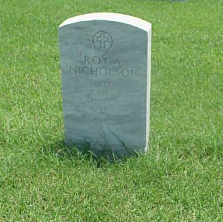 NICHOLSON (VETERAN), ROY A - Pulaski County, Arkansas | ROY A NICHOLSON (VETERAN) - Arkansas Gravestone Photos