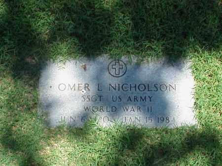 NICHOLSON (VETERAN WWII), OMER L - Pulaski County, Arkansas | OMER L NICHOLSON (VETERAN WWII) - Arkansas Gravestone Photos