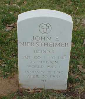 NIERSTHEIMER  (VETERAN WWI), JOHN E - Pulaski County, Arkansas | JOHN E NIERSTHEIMER  (VETERAN WWI) - Arkansas Gravestone Photos