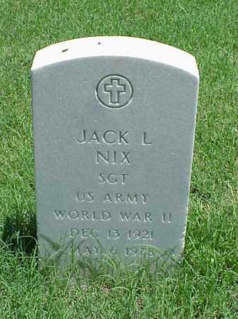 NIX (VETERAN WWII), JACK L - Pulaski County, Arkansas | JACK L NIX (VETERAN WWII) - Arkansas Gravestone Photos