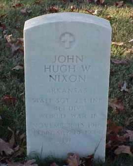 NIXON (VETERAN WWII), JOHN HUGH W - Pulaski County, Arkansas | JOHN HUGH W NIXON (VETERAN WWII) - Arkansas Gravestone Photos