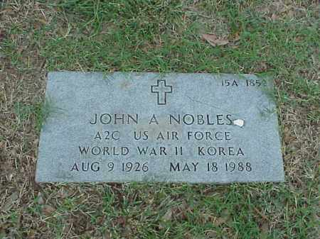 NOBLES (VETERAN 2 WARS), JOHN A - Pulaski County, Arkansas | JOHN A NOBLES (VETERAN 2 WARS) - Arkansas Gravestone Photos