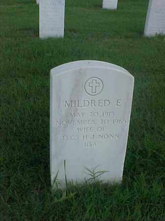 NONN, MILDRED E - Pulaski County, Arkansas | MILDRED E NONN - Arkansas Gravestone Photos