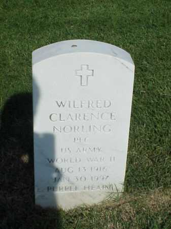 NORLING (VETERAN WWII), WILFRED CLARENCE - Pulaski County, Arkansas | WILFRED CLARENCE NORLING (VETERAN WWII) - Arkansas Gravestone Photos
