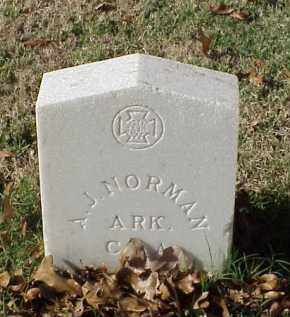 NORMAN (VETERAN CSA), A J - Pulaski County, Arkansas | A J NORMAN (VETERAN CSA) - Arkansas Gravestone Photos
