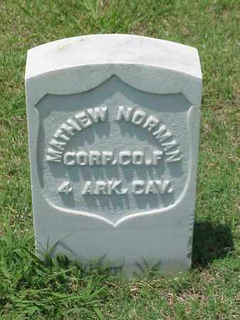 NORMAN (VETERAN UNION), MATHEW - Pulaski County, Arkansas | MATHEW NORMAN (VETERAN UNION) - Arkansas Gravestone Photos
