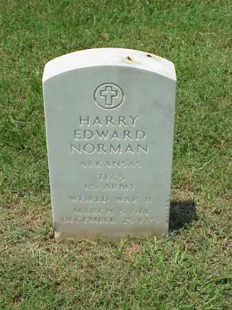 NORMAN (VETERAN WWII), HARRY EDWARD - Pulaski County, Arkansas | HARRY EDWARD NORMAN (VETERAN WWII) - Arkansas Gravestone Photos