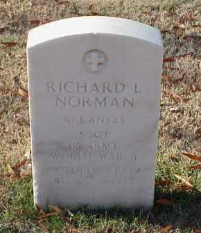 NORMAN (VETERAN WWII), RICHARD L - Pulaski County, Arkansas | RICHARD L NORMAN (VETERAN WWII) - Arkansas Gravestone Photos