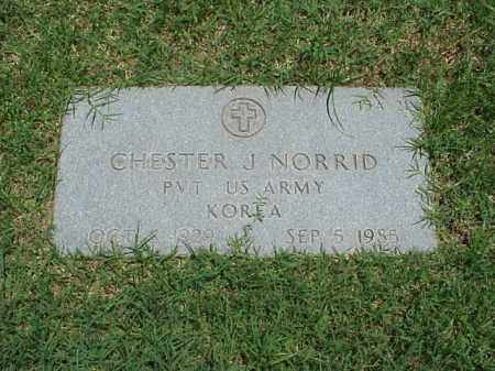 NORRID (VETERAN KOR), CHESTER J - Pulaski County, Arkansas | CHESTER J NORRID (VETERAN KOR) - Arkansas Gravestone Photos