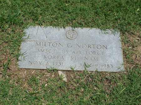 NORTON (VETERAN 2 WARS), MILTON G - Pulaski County, Arkansas | MILTON G NORTON (VETERAN 2 WARS) - Arkansas Gravestone Photos