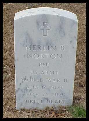 NORTON (VETERAN WWII), MERLIN B - Pulaski County, Arkansas | MERLIN B NORTON (VETERAN WWII) - Arkansas Gravestone Photos
