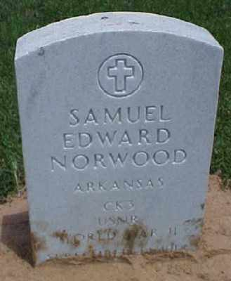 NORWOOD (VETERAN WWII), SAMUEL EDWARD - Pulaski County, Arkansas | SAMUEL EDWARD NORWOOD (VETERAN WWII) - Arkansas Gravestone Photos