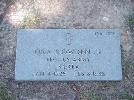 NOWDEN, JR (VETERAN KOR), ORA - Pulaski County, Arkansas | ORA NOWDEN, JR (VETERAN KOR) - Arkansas Gravestone Photos