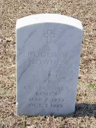 NOWDEN (VETERAN KOR), ROGER W - Pulaski County, Arkansas | ROGER W NOWDEN (VETERAN KOR) - Arkansas Gravestone Photos