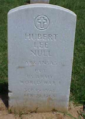 NULL (VETERAN WWI), HUBERT LEE - Pulaski County, Arkansas | HUBERT LEE NULL (VETERAN WWI) - Arkansas Gravestone Photos