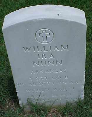 NUNN (VETERAN WWII), WILLIAM IRA - Pulaski County, Arkansas | WILLIAM IRA NUNN (VETERAN WWII) - Arkansas Gravestone Photos