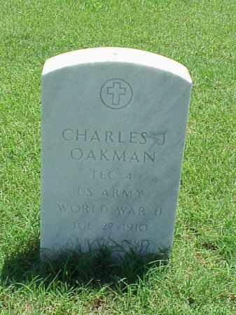 OAKMAN (VETERAN WWII), CHARLES J - Pulaski County, Arkansas | CHARLES J OAKMAN (VETERAN WWII) - Arkansas Gravestone Photos