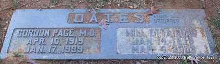 "OATES, WILL ETTA ""WILLIE"" - Pulaski County, Arkansas 