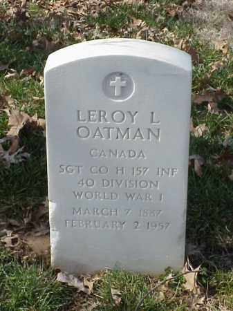 OATMAN (VETERAN WWI), LEROY L - Pulaski County, Arkansas | LEROY L OATMAN (VETERAN WWI) - Arkansas Gravestone Photos
