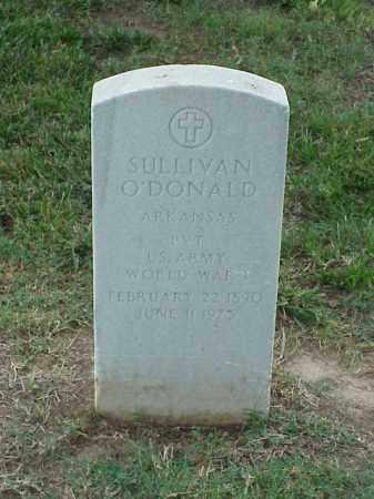 O'DONALD (VETERAN WWI), SULLIVAN - Pulaski County, Arkansas | SULLIVAN O'DONALD (VETERAN WWI) - Arkansas Gravestone Photos