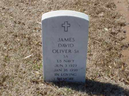 OLIVER, SR  (VETERAN), JAMES DAVID - Pulaski County, Arkansas | JAMES DAVID OLIVER, SR  (VETERAN) - Arkansas Gravestone Photos